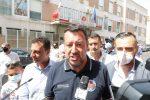 """Salvini a Messina: """"Grazie ai vigili del fuoco, occorrono uomini e mezzi"""" FOTO"""