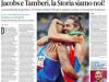 """Olimpiadi, il mondo celebra le imprese di Jacobs e Tamberi: """"Difficile da credere"""" I TITOLI PRINCIPALI"""