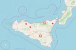 Sicilia, ecco la mappa degli incendi divampati sull'Isola