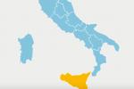 La Sicilia da oggi in giallo: e i numeri sono in peggioramento