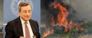 Incendi, Draghi: ristori e piano straordinario per la sicurezza in Calabria e Sicilia