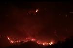 Notte di incendi a Catanzaro, fiamme minacciano abitazioni e polmoni verdi - VIDEO