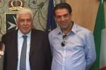 Il sindaco di Melicuccà Emanuele Oliveri e l'assessore Vincenzo Oliverio