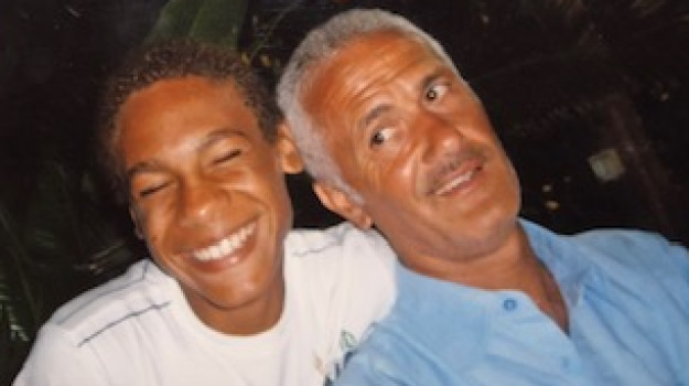 Marcell Jacobs con il padre