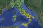 Meteo, weekend con temporali: allerta gialla nelle Regioni del centro-sud