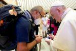 Don Santo Borrelli e Papa Francesco