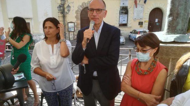 elezioni, lamezia, Amalia Bruni, Enrico Letta, Nino Spirlì, Catanzaro, Politica