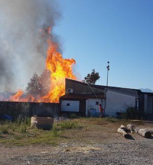 Mega incendio in una falegnameria: paura a San Marco Argentano - VIDEO