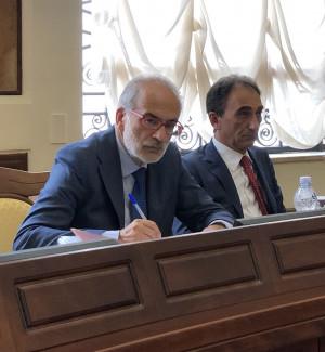 Il dirigente Antonio De Marco e il sindaco Sergio Abramo