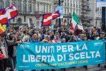 """Manifestazione a Milano, indagati 41 """"no green pass"""". Un arresto e 6 denunce a Pescara"""