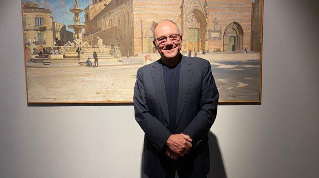 Carlo Verdone in visita al MuMe di Messina: scatti e sorrisi davanti alle opere del Museo - FOTO