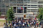 Cosenza, la Madonna del Pilerio fa tappa anche al Palazzo di giustizia - FOTO