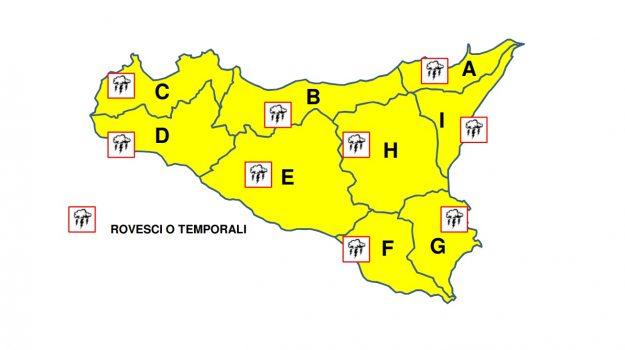 Meteo, in Sicilia allerta gialla: maltempo fino alle 24 di mercoledì
