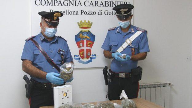 barcellona pozza di gotto, droga, tre arresti, Messina, Cronaca