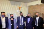 Matteo Salvini, Nino Spirlì, Roberto Occhiuto, Antonio Tajani e Antonio De Poli a Lamezia Terme
