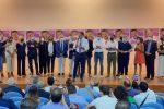 Matteo Salvini con i candidati alle Regionali della Lega a Catanzaro