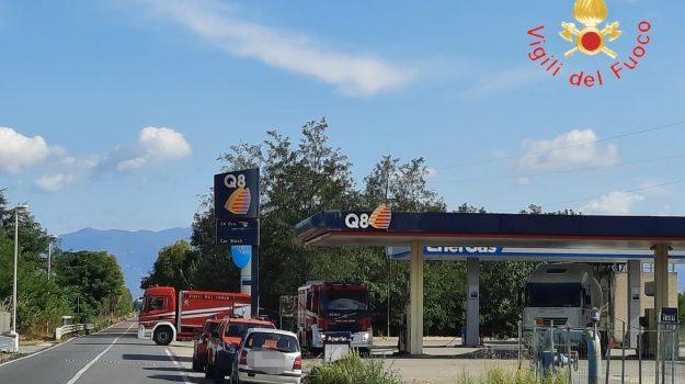 fuga di gas, pizzo, statale 18, Catanzaro, Cronaca