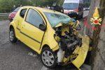 Tragico scontro auto-camion a Marcellinara, muore una 40enne FOTO