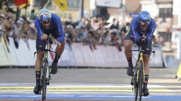 italia bronzo, mondiali ciclismo, staffetta mista, Sicilia, Sport