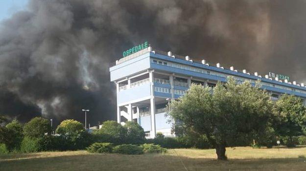 incendio scordovillo, lamezia terme, ospedale, Catanzaro, Cronaca