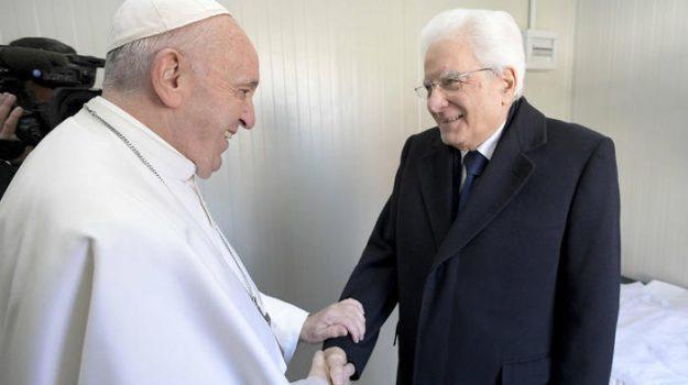 capo dello stato, fine mandato, visita al papa, Papa Francesco, Sergio Mattarella, Sicilia, Politica