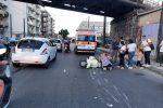 Messina, scontro auto scooter tra via Bonino e via Bonsignore. Motociclista ferito FOTO