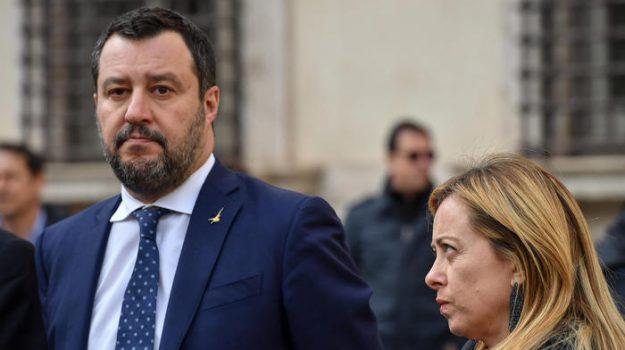 centrodestra, elezioni amministrative, giorgia meloni, Matteo Salvini, Sicilia, Politica