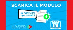 Bonus Rottamazione TV:scarica e compila il modulo di autocertificazione - PDF