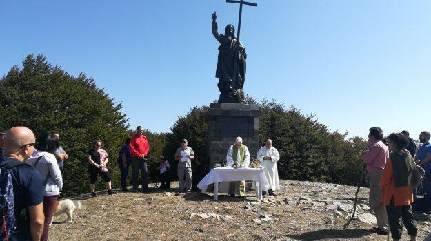 aspromonte, cima Redentore, messa, san luca, Umberto Lauro, Reggio, Società