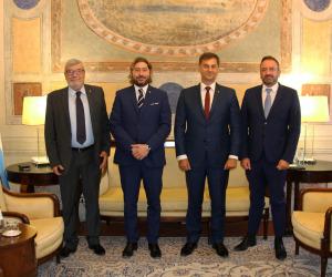 San Marino, onorificenza all'ex ministro greco del Turismo Theoharis