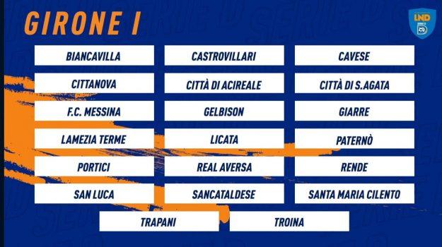 girone i, serie d, Messina, Calabria, Sport