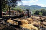 Vallelonga, un'azienda agricola distrutta da un incendio