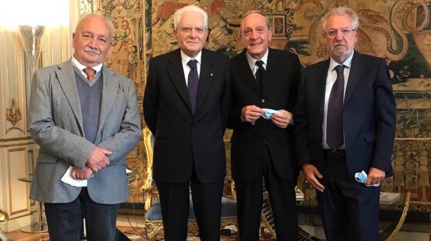 Cappelli, Palma e Sergi insieme al presidente della Repubblica Mattarella