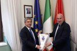 Crotone, il sindaco Voce accoglie il nuovo questore Giambra