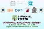 """""""Tempo del Creato"""", oggi alla Lega navale di Messina """"Biodiversità, mare, giovani e sviluppo"""""""