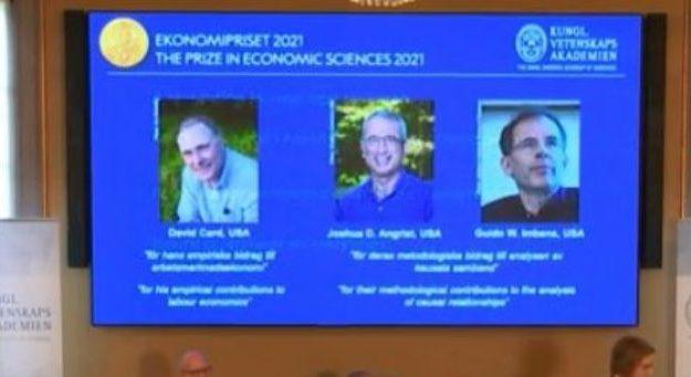Nobel Economia, ecco chi sono i premiati Card, Angris ed Imbens