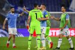 La Lazio festeggia il successo di Coppa