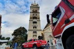 Ancora crolli al Duomo di Messina, nuovo intervento dei vigili del fuoco FOTO