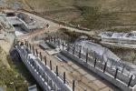 Le fondamenta della nuova fermata della metropolitana di superficie di Catanzaro al Policlinico