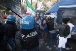 Proteste no Green pass a Roma, in manette anche Castellino e Fiore di Forza Nuova VIDEO