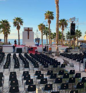 L'area di Tropea dove si terrà la celebrazione della beatificazione di don Mottola