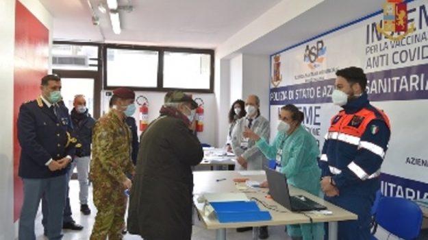 centro vaccinale polizia, coronavirus, reggio calabria, Reggio, Cronaca
